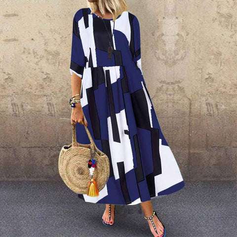 Maxi Geometric Women's Dress