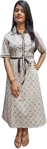 Women's Cotton A-Line Summer Dress
