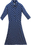 Women's Polka Dot Blue Formal Dress