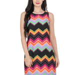 Women's Multicolor Printed Dress