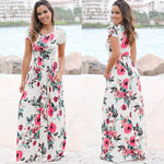 Summer Evening Party Beach Maxi Dress