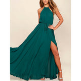 Women's Halter Neck Maxi Party Gown