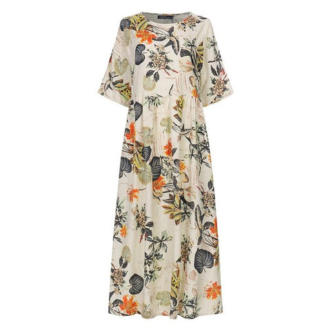 Women's Floral Casual Printed Dress