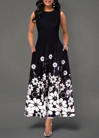 Women's Floral Long Maxi Dress