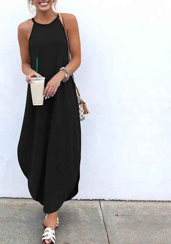 Summer Sexy Strap Sleeveless Party Maxi Dresses
