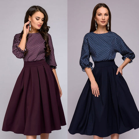 Vintage Style Women's Party Dress