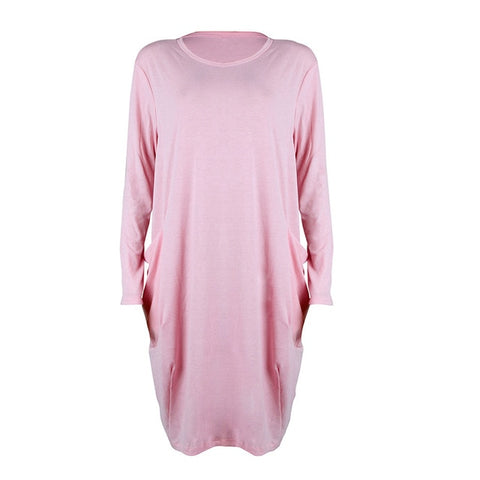 Women's Casual Loose Dress Long Tops