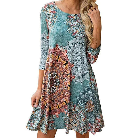 Women's Summer Vintage Style Mini Dress