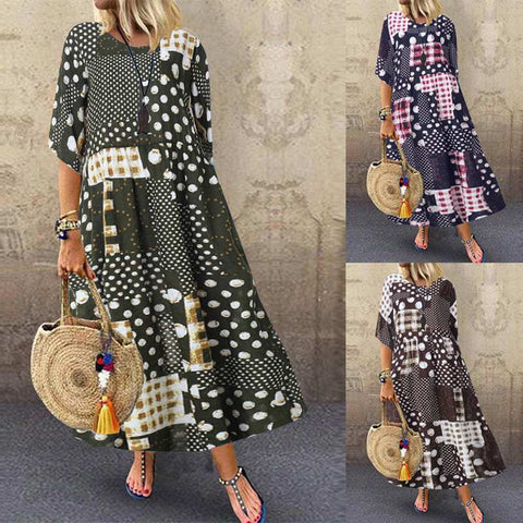 Women Bohemian Dress Sundress Maxi