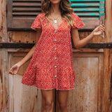 Women's Short Floral Beach Dress