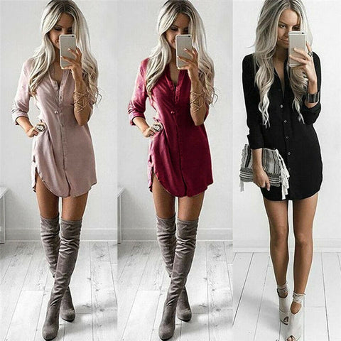 Women's Tops Loose Shirt Dress