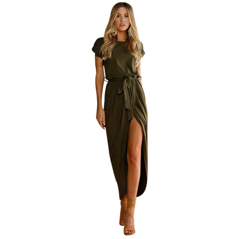 Women's Solid Long Dress