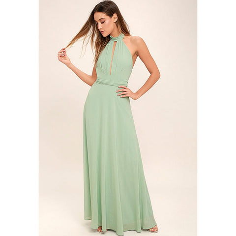 Floor-Length Summer Maxi Dress