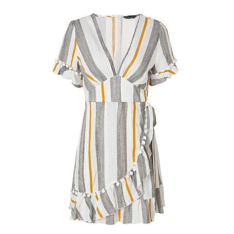 Women's Mini Dress Summer Beach Stripe Dress