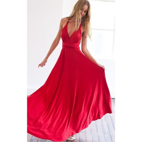 Maxi Party Solid Dress