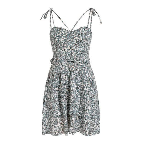 Women's Sleeveless Floral Summer Beach Dress