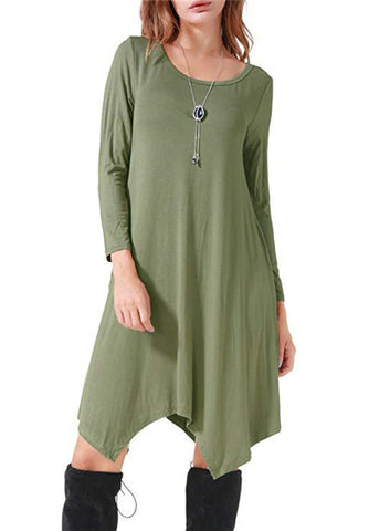 Women's Cotton Casual Loose Dress