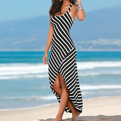 Women Stripes Loose Dress