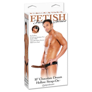 10 Inch Chocolate Dream Hollow Strap-On