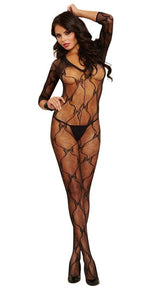 Bordeaux Long Sleeved Bodystocking