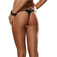 Load image into Gallery viewer, Black Ruffled Thong