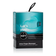 Load image into Gallery viewer, Aries Ambidextrous Finger Massager Robin Egg Blue