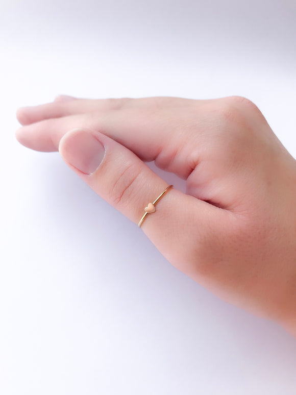 Gold Mini Heart Ring