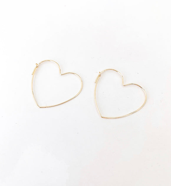 Gold Filled Wire Heart Earrings