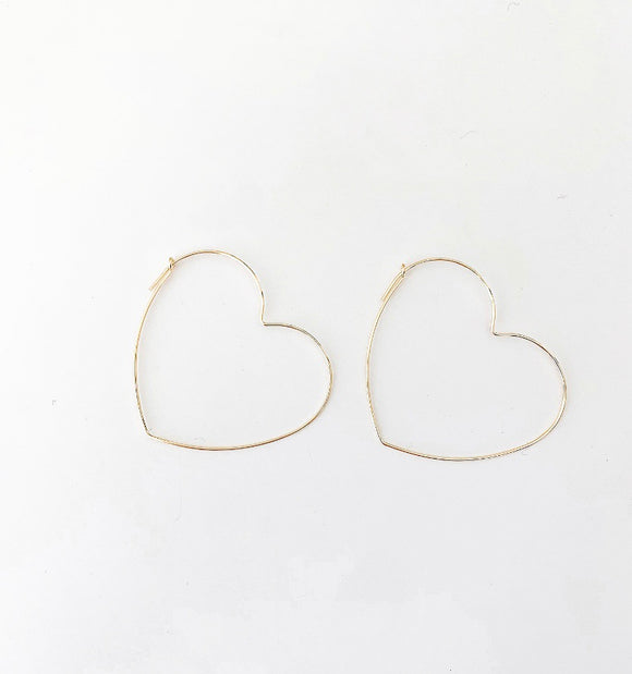 Gold Filled Large Heart Earring