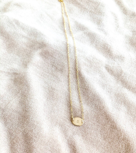 Gold filled Oval Necklace