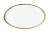 CANVAS Dauville Oval Platter Gold Rim