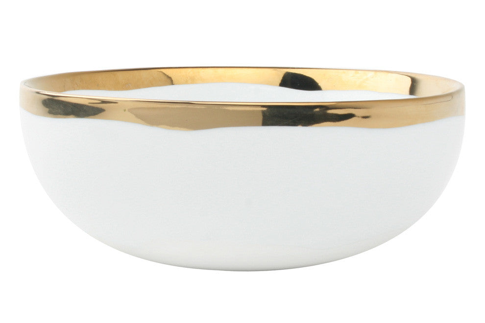 "CANVAS Dauville Cereal Bowl - Gold 6.25""W 2.5""H"