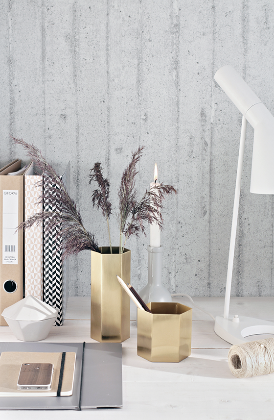 FERM LIVING - Hexagon Vase