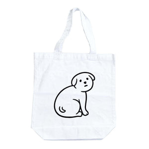NOT SCARY DOG tote bag