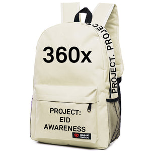 Butter Cream White BackPack - Black Print -