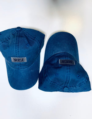 "DISTRESSED  BLUE JEANS DAD HAT ""NOISE"" LOGO"