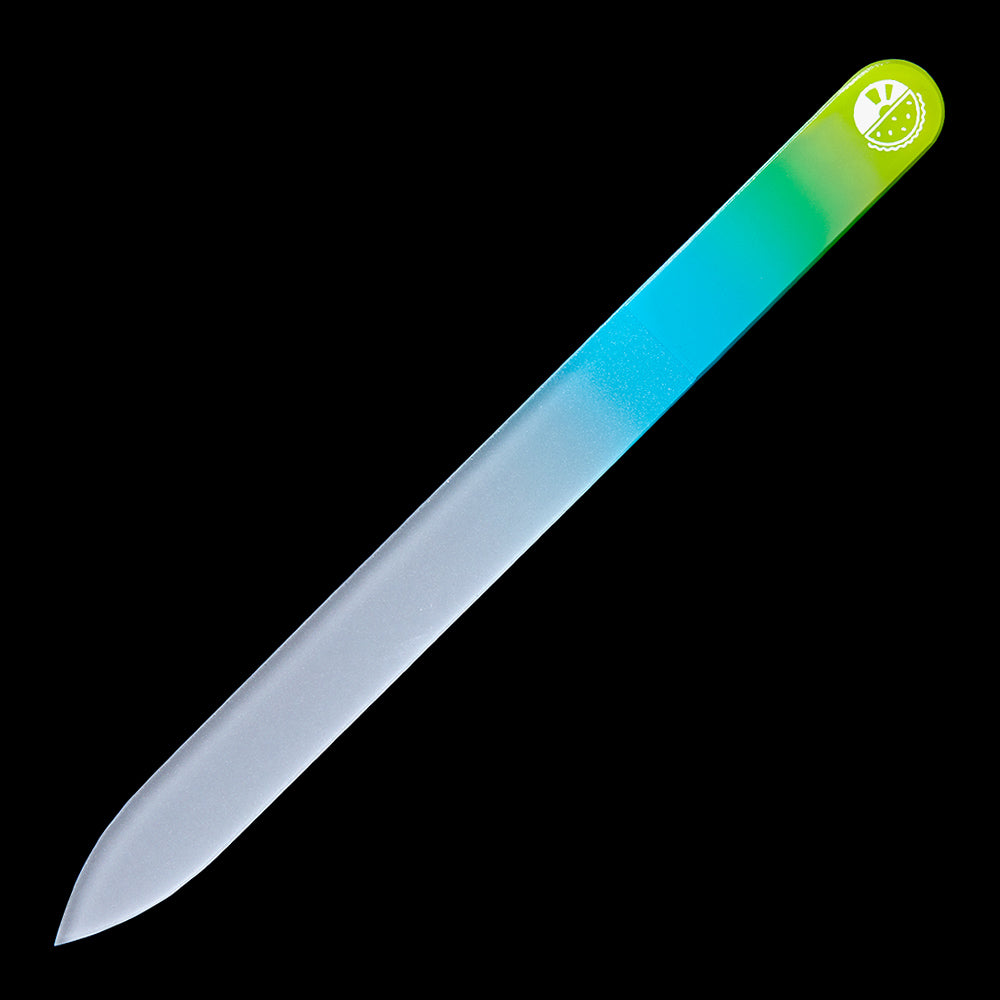 Glass Nail File - Green/Blue