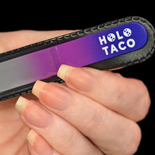 Load image into Gallery viewer, Holo Taco Nail File in hand