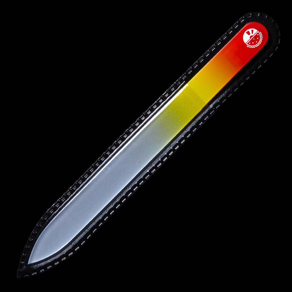 Glass Nail File - Red/Yellow