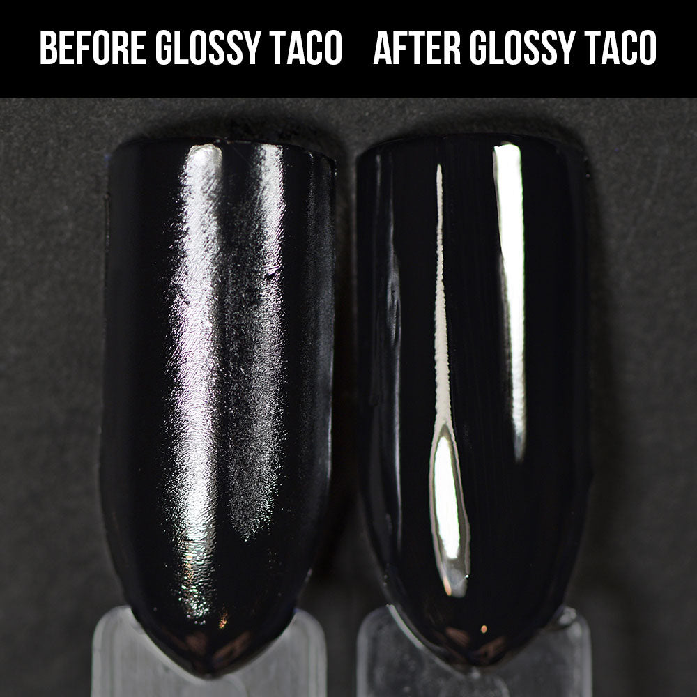 Holo Taco Glossy Taco before and after, over One-Coat Black