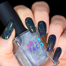 Load image into Gallery viewer, Linear Holo Taco over One-Coat Black