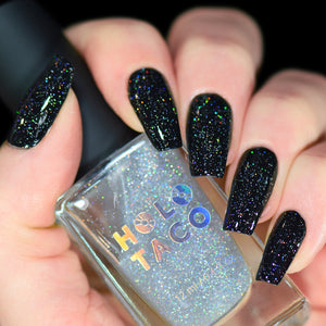Scattered Holo Taco over One-Coat Black