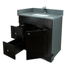 "Load image into Gallery viewer, 24"" Espresso Damian Vanity with Crystal Grey Quartz"