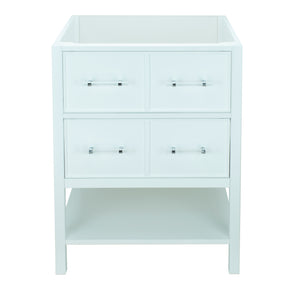 "30"" White Gemma Vanity Base Only"