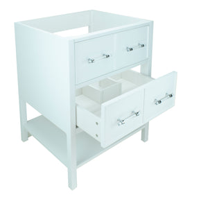 "24"" White Gemma Vanity Base Only"