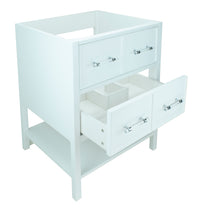 "Load image into Gallery viewer, 30"" White Gemma Vanity Base Only"