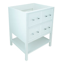 "Load image into Gallery viewer, 24"" White Gemma Vanity Base Only"