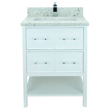 "Load image into Gallery viewer, 24"" White Gemma Vanity with Milky Way Quartz"