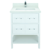 "Load image into Gallery viewer, 24"" White Gemma Vanity with Silk White Quartz"