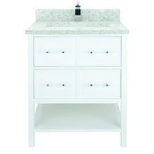 "Load image into Gallery viewer, 30"" White Gemma Vanity with Topaz Quartz"